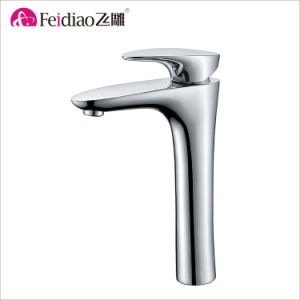 European Style Popular Brass Single Handle Tall Basin Faucet