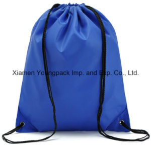 Blue Promotional Lightweight Waterproof 210d Nylon Drawstring Back Sack Pack pictures & photos