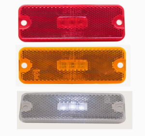 china 4 x1 5 oblong led marker and clearance reflex led marker