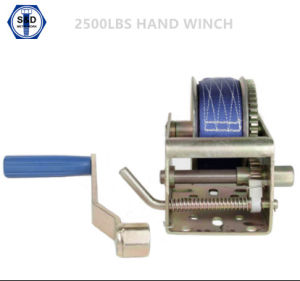 2500lbs Hand Winch with Removable Hand