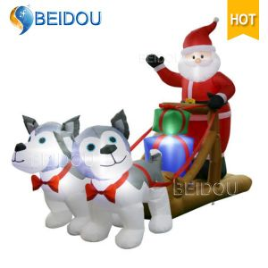 China Wholesale Outdoor Inflatable Christmas Decorations Snowman Christmas Inflatable Sleigh - China Inflatable Christmas Decorations, Christmas Sleigh
