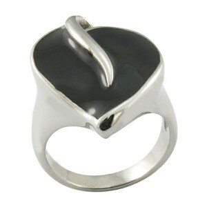 Black Enamal Rings Stainless Steel Ring Fashion Jewelry pictures & photos