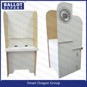 Two Face Corrugated Cardboard Polling Booth, Voting Screen for Election