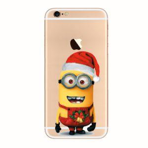online store a9574 f0b72 Christmas Cheap Good Quanlity Wholesale Clear PC Minion Case for iPhone  6plus (Spc357)