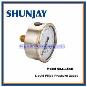 Liquid Filled Pressure Gauge -Back Connection (115AB)