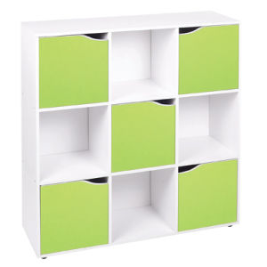 4 6 9 Wooden Cube Storage Unit Display Shelves Cupboard Doors Bookcase Shelving