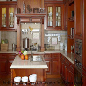 Multi Functions Convenient Solid Wood Kitchen Cabinet pictures & photos