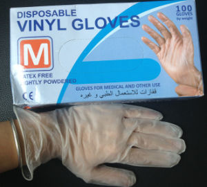 Cheap Powder-Free and Powdred Disposable Vinyl Gloves with Good Quality pictures & photos