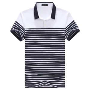 Hot Sale High Quality Stripe Print Polo Shirt for Men pictures & photos