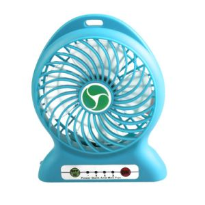 USB Mini Fan Portable Electric Fans LED Portable Rechargeable Desktop Fan Cooling Air Conditioner Portable Fan with a Battery pictures & photos