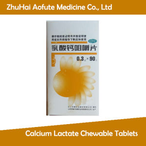 GMP Certified Calcium Lactate Chewable Tablets pictures & photos