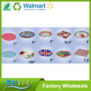 Wholesale Custom Round Square and Flower Shape Disposable Paper Plate pictures & photos