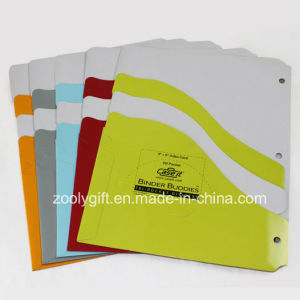 A4 Index Divider Twin Pocket Paper File Folders for Ringbinder pictures & photos