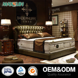 Modern Oak Wood Leather Home Furniture (T-07363)