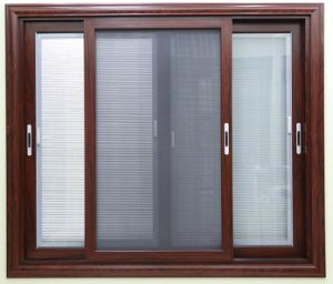 Aluminum Sliding Window With Shutter And Mosquito Net Insert
