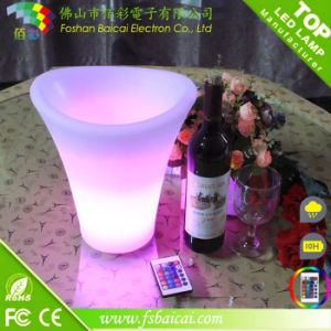 LED Round Champagne Bucket for Serving Drinks Bcr-912b