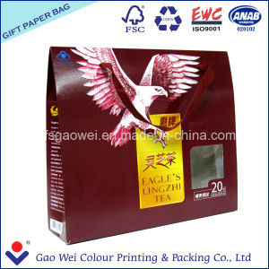 Color Shopping Paper Bag Printing Logo for Tea Gift pictures & photos