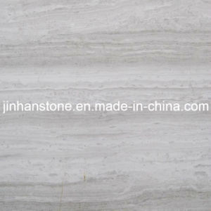Natural Polished Haisa Light Wood Grain White China Stone Tiles For Wall Floor