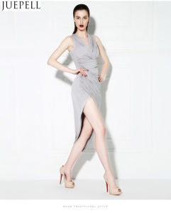 Spring and Summer Slits Barelegged Good Quality Evening Dress Costume Bridesmaid Dress Sexy Dress Slim Eom Custom pictures & photos