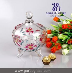 Exquisite Multi-Colors Gift Glass Candy Jar pictures & photos