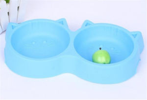 Hot Sale Fancy Design Food Grade Plastic Dog Food Bowl pictures & photos