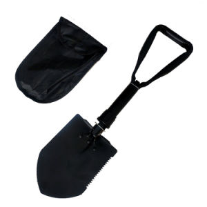 Tri-Folding Military Style Heavy Duty Shovel for Camping Gardening Engineering