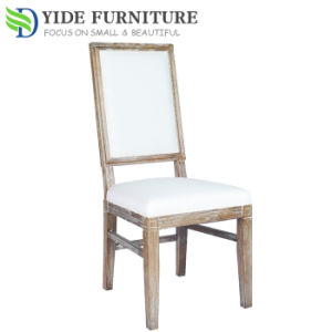 Morden Wooden White Fabric Dining Chair for Kitchen