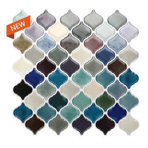 Lantern Arabic Moroccan Tile Self Adhesive Back Baffle 3D Mosaic Wallpaper Ethylene Bathroom DIY Decoration