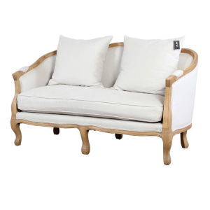Style Solid Wood Frame 2 Seater Beige