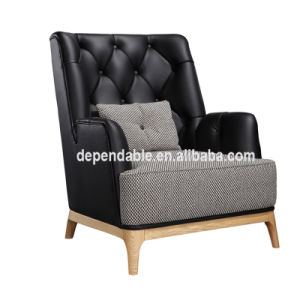 Good Choice Fashion Leather Mix Fabric Sectional Home Furniture High Taste  Living Room Sofa Chair