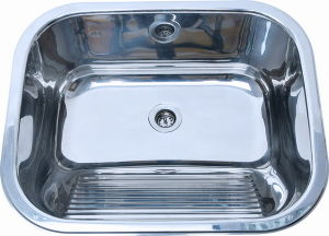 China Wall Mounted Stainless Steel Laundry Sink Tub With Washboard