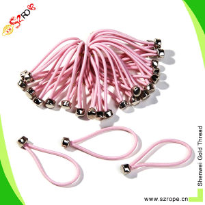 Pink Elastic Hair Band with Clips