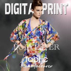 Polyester Stretch Digital Printing on Fabric pictures & photos