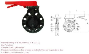 High Quality UPVC Butterfly Valve pictures & photos