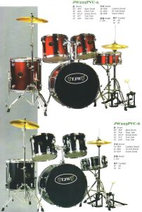 5PCS PVC Drum Kits, Drum Set (JW225PVC-5, JW225PVC-6)