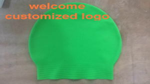Latex Natation Cap with Customized Logo pictures & photos