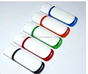 Promotion Plastic USB Flash Disk with Customized Logo pictures & photos