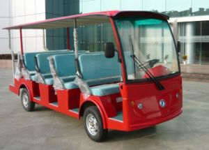 Dongfeng Electric Car 5kw Motor Electric Sightseeing Bus for 14 Person