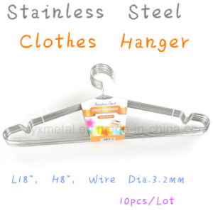 High Quality Metal Solid Stainless Steel Clothes Coat Wire Hangers pictures & photos