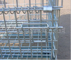 Galvanized Foldable Collapsible Stacking Wire Mesh Pallet Container pictures & photos