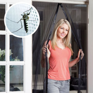 Durable Magnetic Magic Mesh Screen Door With Strong Magnets