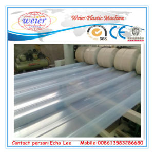 PVC Transparent Roof Sheet Making Machine pictures & photos