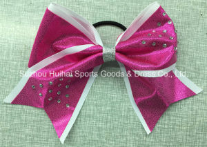 Metallic Hair Bow with Stones pictures & photos