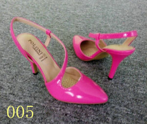 Pink Fashion Sandal Stock Footwear Shoes (005)
