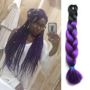 Xpression Ombre Braiding Hair Two Tone Kanekalon Jumbo Braid Hot Purple