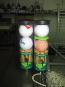 Golf Ball Packed in PVC Sleeve
