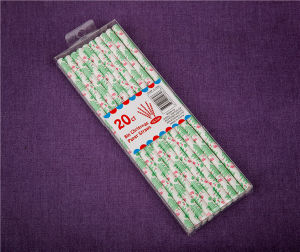 Christmas Party Products Green Drinking Paper Straws with PVC Box pictures & photos