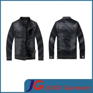Men Black Wash Relaxed Fit Trucker Denim Jacket Apparel (JC7037) pictures & photos