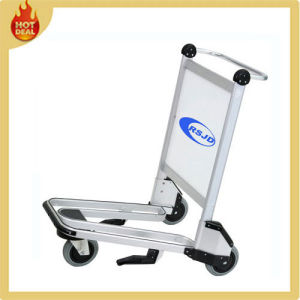 Aluminum Alloy 3 Wheels Airport Passenger Baggage Trolley (LW1D) pictures & photos