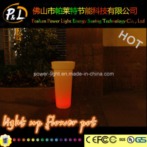 Illuminated Garden Furniture Colorful Flashing LED Flower Pot pictures & photos